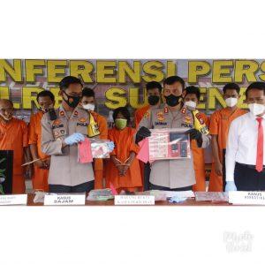 Konferensi Pers Polres Sumenep, Ungkap 50 Kasus, Begini Kata Kapolres...